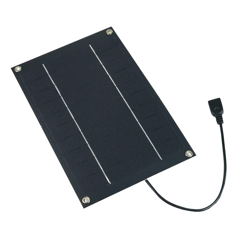 SUNWALK 6W 5V Monocrystalline Silicon Solar Charger Panel Semi-flexible Lightweight Outdoor Travel Portable Power Bank with USB Interface