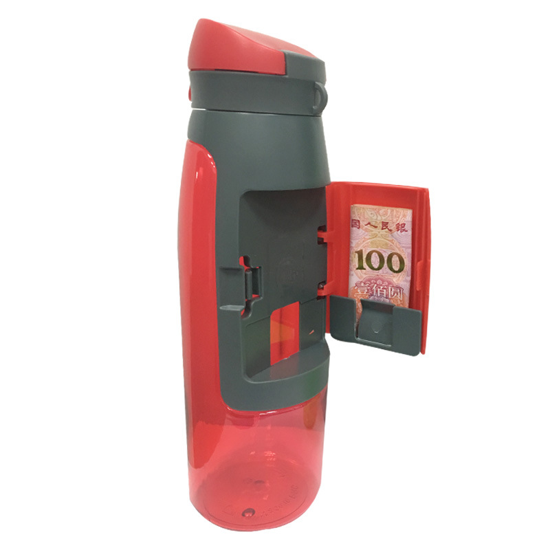 Sports Bottle With Storage Compartment: Gym Water Bottle With Storage Compartment That Can Hold