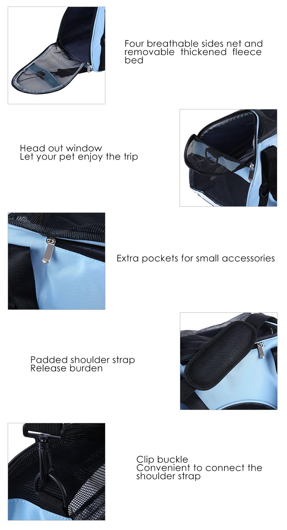 Pet Dog Cat Outdoor Carrier Travel Tote Bag Breathable Mesh Handbag