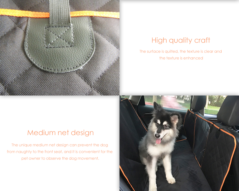 QX1205 600D Oxford Cloth Car Pet Pad with Medium Net