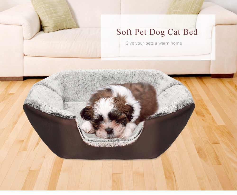 Soft Warm Washable Pet Dog Cat Bed Nest Ger with Removable Cushion