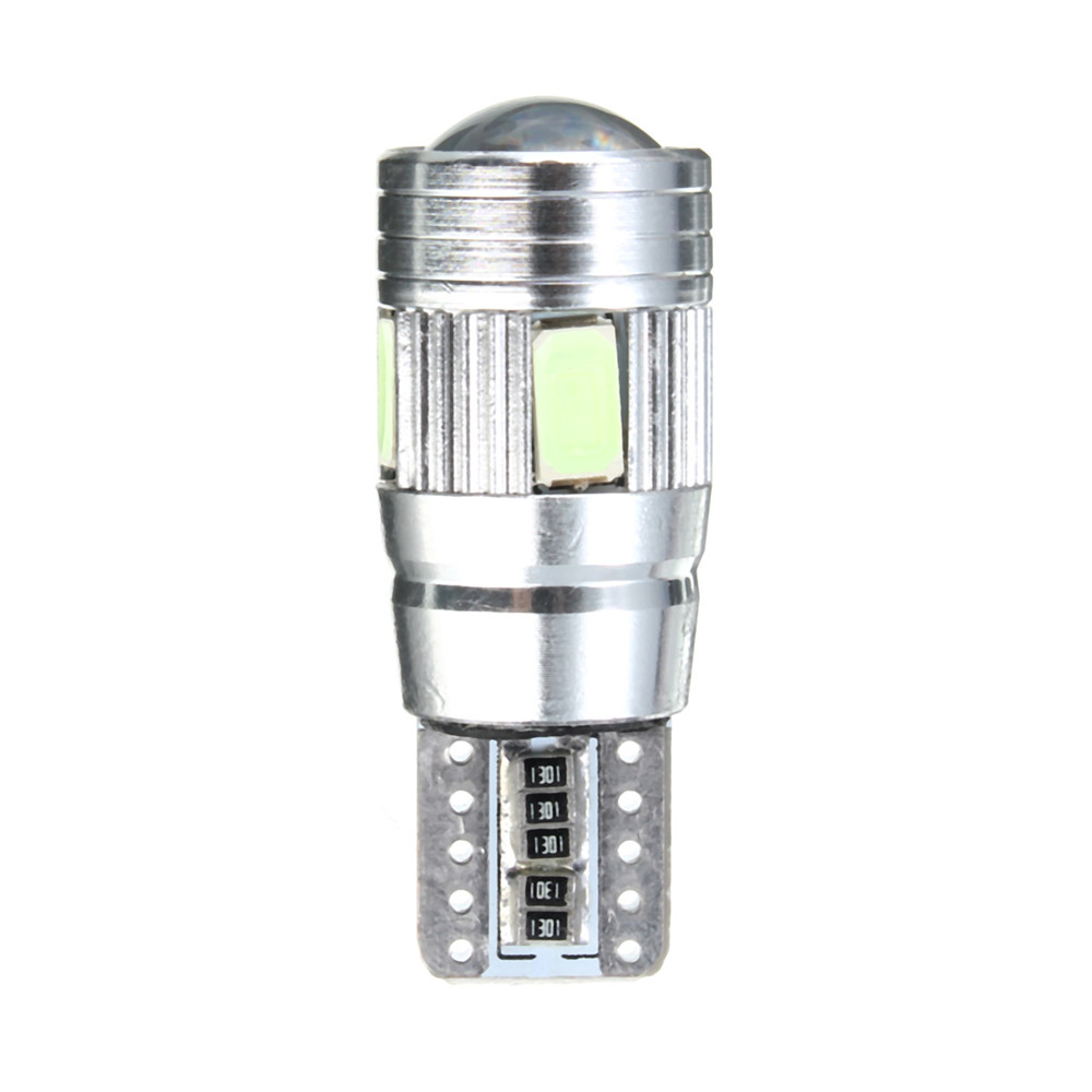 T10 501 194 W5W 5630 LED 6 SMD Canbus Error Free Car License Plate Light Glove Box Light