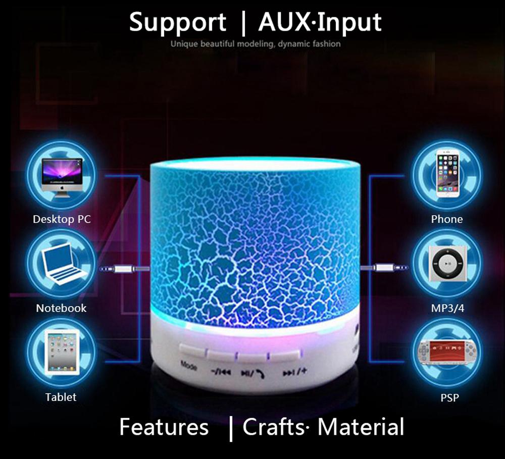 Portable Mini Wireless LED Bluetooth Speaker Super Bass Loudspeaker Stereo Music Player