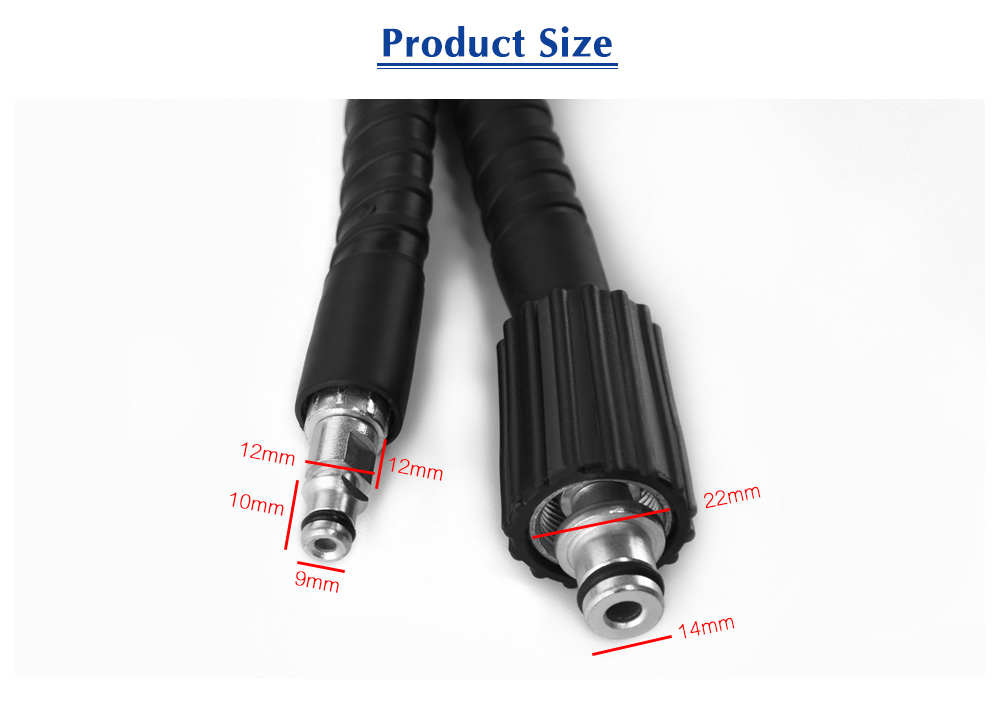 6 / 8 / 10M High Pressure Water Cleaning Hose for K2 - K7 Car Washer